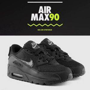 Kids Air Max 90   9C   Black + Dark Gray